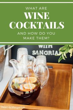 Red Wine Cocktails, Prosecco Cocktails, Wine Drinks, Sangria Wine, Christmas Cocktails, Beverages, Best Cocktail Recipes, Sangria Recipes, Wine Recipes