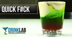QF or Quick Fuck Shot - How to make a Quick Fuck Cocktail Recipe by Drink Lab (Popular) Cocktail Names, Cocktail Drinks, Cocktail Recipes, Cocktails, Kahlua Drinks, Alcoholic Drinks, Shooter Recipes, Cocktail Videos, Cocktail Making