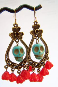 Day of dead earrings.