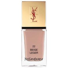 Yves Saint Laurent Beauty Women's La Laque Couture found on Polyvore featuring beauty products, nail care, nail polish, nails, beige, yves saint laurent, yves saint-laurent nail polish and shiny nail polish