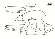 children activities, more than 2000 coloring pages Polar Bear Coloring Page, Bear Coloring Pages, Coloring Pages For Kids, Summer Camps For Kids, Summer Kids, Bear Crafts, Magic School Bus, Bear Theme, Books For Moms