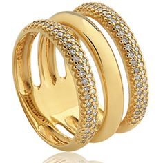 Anel Ouro Amarelo e Diamantes Lumiére Solar  VIVARA