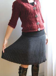 ribbed skirt pattern  -knit