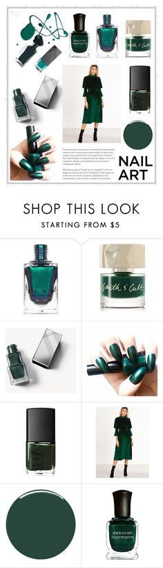 """""""Wintery Nail Polish"""" by cinnamonbelle ❤ liked on Polyvore featuring beauty, Smith & Cult, Burberry, Liberty and Deborah Lippmann"""