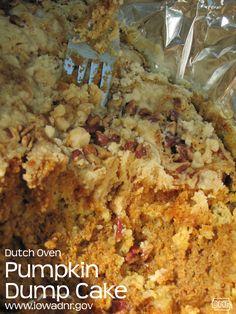 A lot of Dutch Oven recipes including, Dutch oven pumpkin dump cake recipe from the Iowa DNR