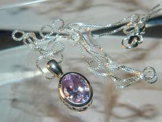 Lavender Stone Necklace by JewelrybyDecember67 on Etsy, $26.00