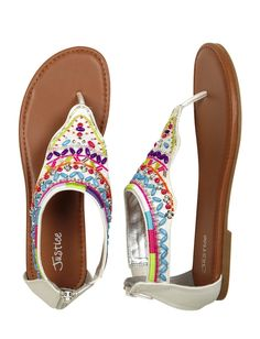 Justice Clothes for Girls Outlet   Girls Clothing   Sandals   Beaded Hood Sandals ...   Carre's World ...