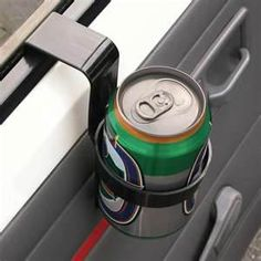 Cup Holder For Old Cars.....and we were so cool until you forgot that there was a drink in the holder and slammed the car door and it went everywhere!