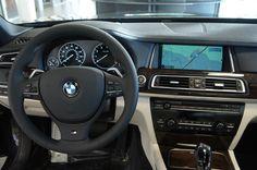 2013 BMW 7 Series: Dark Graphite exterior, Ivory White/Black Dakota Leather, Burled Walnut Trim with Inlay, M Sport Package #BMWTOWSON #26679