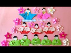 折り紙 五人囃子 雛人形 簡単な折り方 Origami Japanes kimono doll tutorial(niceno1) - YouTube Japanese Culture, Japanese Art, Origami Girl, Hina Matsuri, Hina Dolls, Paper Crafts, Diy Crafts, Craft Projects For Kids, Doll Tutorial