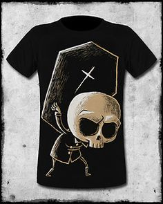 Herren Alice Tattoo T-Shirt Akumu Ink Tea Party S-XL Schwarz