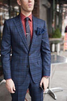plaid suit . menswear
