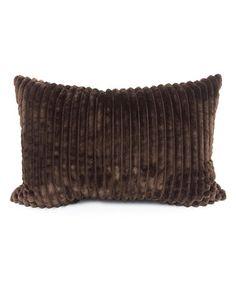 Chestnut Ridgecrest Plush Throw Pillow #zulily #zulilyfinds