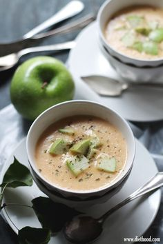 Apple and Cheddar Cheese Soup | www.diethood.com