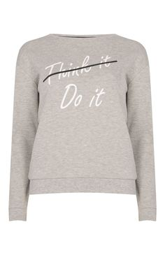 Primark - Sudadera gris Do it $7