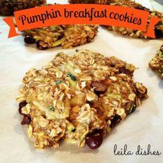 Pumpkin Breakfast Cookies | Leila Dishes