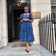 African Outfits, African Attire, African Fashion Dresses, African Dress, Fashion Outfits, Seshweshwe Dresses, African Prints, African Women, Clothing Styles
