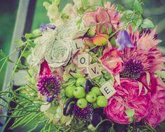 Scrabble tiles bouquet // Dasee Floral Boutique