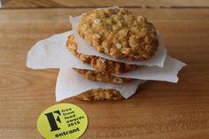 Anzac biscuits. Gluten free and vegan, shortlisted in free from food awards 2015.