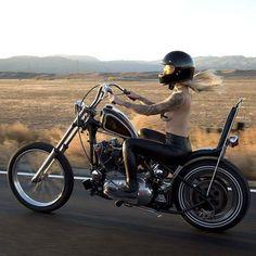 Harley Davidson and the Marlboro Man. Virago Bobber, Sportster Chopper, Harley Bobber, Harley Softail, Scooter Motorcycle, Motorbike Girl, Motorcycle Travel, Motorcycle Girls, Biker Chick