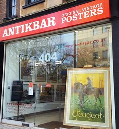 Enjoy a walk in the sunshine and visit us at 404 King's Road London or browse our original vintage posters online at http://www.antikbar.co.uk/ (including 100+ recent additions from around the world: sport, travel, cinema, advertising, war, propaganda). AntikBar - Original Vintage Posters, 404 King's Road, London SW10 0LJ. AntikBar.co.uk