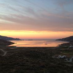 Ftelia, Myconos, sunset