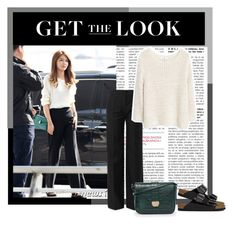"""""""Airport Fashion : Sooyoung."""" by sheiladenada ❤ liked on Polyvore featuring Balenciaga, Birkenstock, MANGO and Warehouse"""