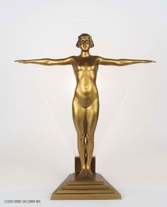 art deco spelter lamp Germany 1930s.