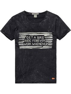 crew neck tee with artwork | T-shirt s/s | Men Clothing at Scotch & Soda