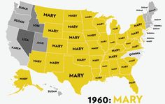 Most popular names for girls, state-by-state, year-by-year