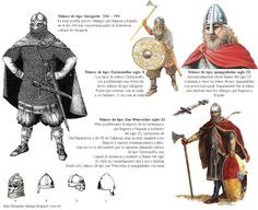 La Hispania de los Vikingos: Tipos de yelmos utilizados por los lordemanos en sus ataques a Hispania
