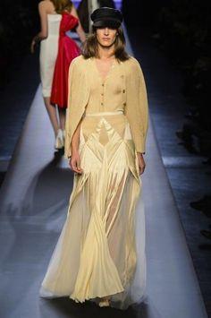 Jean Paul Gaultier vestido raso y punto