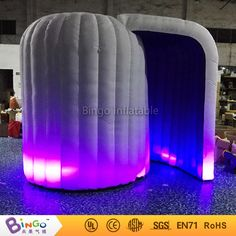 Free Delivery Professional personalized lightweight selfie photo props type inflatable igloo photobooth for toy tents