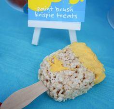 """How to make """"paint brush"""" rice krispie treats"""