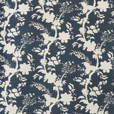 Beijing Blossom Navy by Lee Jofa Navy Fabric, Drapery Fabric, Floral Fabric, Fabric Decor, Lee Jofa, Fabric Houses, Printed Linen, Fabric Wallpaper, Interior Design Inspiration
