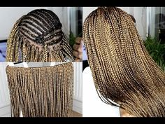 HOW TO DO CROCHET BOX BRAIDS | SMALL - YouTube