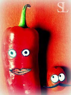 Freche Früchtchen - Paprika und Tomate