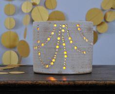 In Stock Handmade Ceramic Luminary Garlands of Light by NaomiAnita