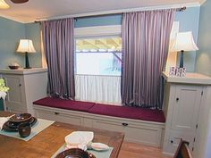 The half-curtain is a great solution if you want to let in light, but block unsightly views just outside the window.