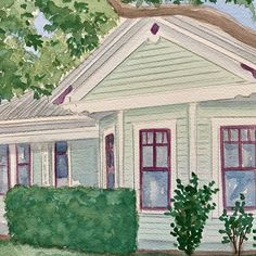 Watercolor house portraits. Custom painting of your home.
