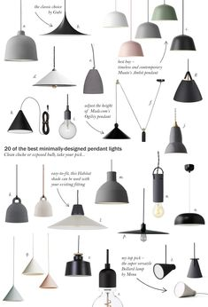 20 of the best minimal pendant lights