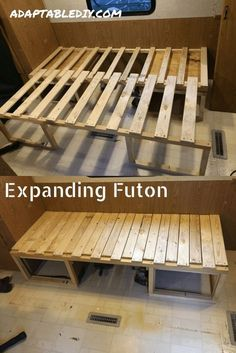 Amazing RV living room renovation including a dinette conversion! Amazing RV living room renovation including a dinette conversion! Rv Living, Small Living, Living Room Decor, Bed In Living Room, Kitchen Living, Caravan Renovation, Home Renovation, Camping Diy, Camping Guide