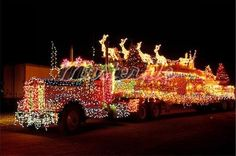 Semi Truck Covered In Christmas Lights. Semi Trucks, Big Rig Trucks, Cool Trucks, Christmas Poems, Christmas Truck, Merry Christmas, Christmas Time, Southern Christmas, Cosy Christmas