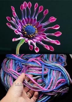 vlna merino - ASTER FLOWER - HAND DYED HAND SPUN -ručne pradená vlna na pletenie :: eshop.vlna-art.sk