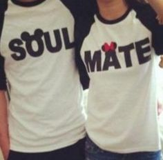Disney Mickey & Minnie Mouse Soul Mate Couple Shirts