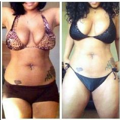 She used the ultimate body applicator and  she saw results!  Become a loyal customer and u can tone tighten and firm all while saving up to 50-60% off shop now   www.wrapgirlwaisted.com