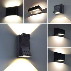 MODERNE LED Aussenleuchte Wandleuchte Aussenlampe UP DOWN Lampe Leuchte Schwarz   eBay