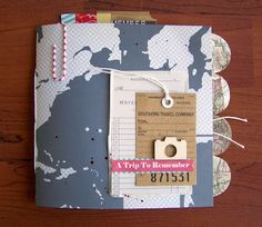 """Travel"" Mini Album by Tessa Buys - http://precociouspaper.blogspot.com/2012/06/travel-mini-album.html"