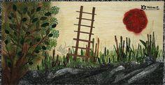 Patchwork obraz - Cesta nahoru / Zboží prodejce Helena P. My Works, Tvar, Quilts, Albums, Trees, Painting, Scrappy Quilts, Picasa, Hampers
