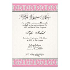 Pink & Silver, Diamonds & Lace, Mis Quince Anos Personalized Announcements online after you search a lot for where to buyReview          Pink & Silver, Diamonds & Lace, Mis Quince Anos Personalized Announcements Here a great deal...